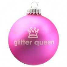 Santa Balls ~ Glitter Queen Ornament