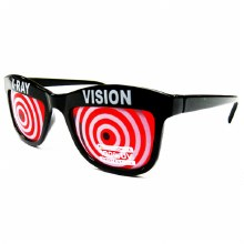 Glasses X-Ray Vision Red