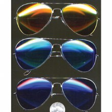 Glasses Aviator Color Mirrored