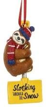 Slothing Through The Snow Ornament