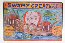 Carnival Sign Swamp Creature