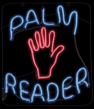 Neon Sign Palm Reader
