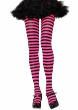 Striped Tights Blk/Pink