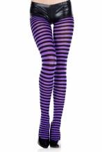 Striped Tights Purple/Black