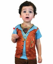 Toddler Hairy Chest Shirt 4T