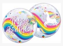 """Unicorn Happy Birthday Bubble ~ 22"""""""