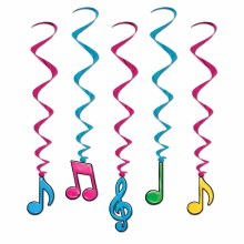 Whirls Music Notes Neon