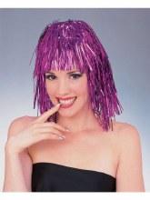 Wig Tinsel Long Purple