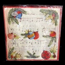 Christmas Melody Beverage Napkins ~ 20 Pack