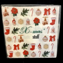X-Mas' Stuff Beverage Napkins ~ 20 Pack