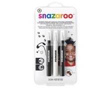 Snazaroo Brush Pens Blk Wht