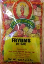 Laxmi: Fryums Star 400g