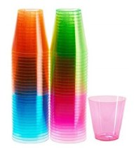 24Pack Colored Shot Glasses Plastic