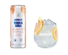Absolut Vodka Soda Grapefruit & Rosemary 4 Pack Cans