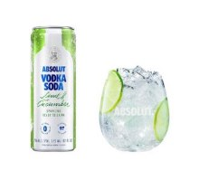 Absolut Vodka Soda Lime & Cucumber 4 Pack Cans