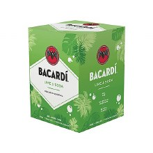 Bacardi Lime & Soda 4 Pack Cans