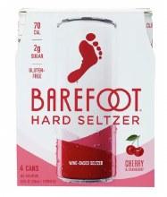 Barefoot Seltzer Cherry & Cranberry 4 Pack 8.4oz Cans