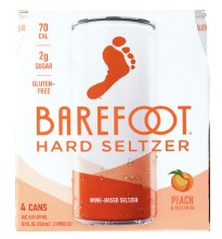 Barefoot Seltzer Peach & Nectarine 4 Pack 8.4oz Cans