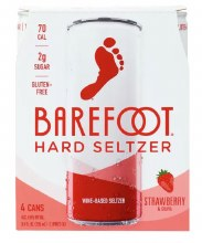 Barefoot Seltzer Strawberry & Guava 4 Pack 8.4oz Cans