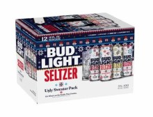 Bud Light Seltzer Ugly Sweater 12 Pack Cans