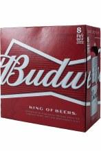 Budweiser 8 Pack 16oz Aluminum