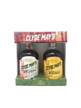 Clyde Mays Straight Bourbon Whiskey & Alabama Style Whiskey 375ml (2 Pack)
