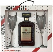Disaronno Gift Set With 2 Flutes 750ml