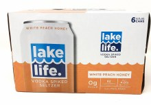 Lake Life Vodka Spiked Seltzer White Peach Honey 6 Pack Cans