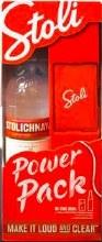 Stolichnaya Vodka Power Pack Gift Set 750ml