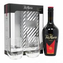 Tia Maria Coffee Liquer Gift Set With Glasses 750ml