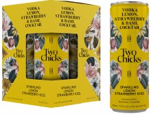 Two Chicks Sparkling Lemon Strawberry Kiss 4 Pack Cans