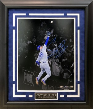 CODY BELLINGER AUTOGRAPHED HAND SIGNED AND CUSTOM FRAMED LA DODGERS 16X20 PHOTO
