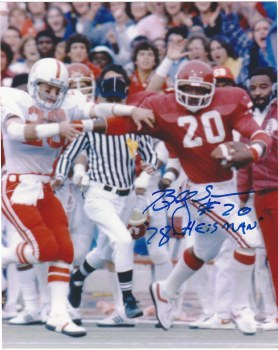 BILLY SIMS AUTOGRAPHED HAND SIGNED OKLAHOMA SOONERS 8X10 PHOTO
