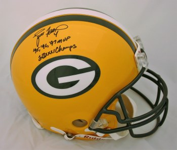 BRETT FAVRE AUTOGRAPHED HAND SIGNED FULL SIZE AUTHENTIC PACKERS HELMET