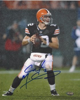 COLT MCCOY SIGNED BROWNS 8X10 PHOTO