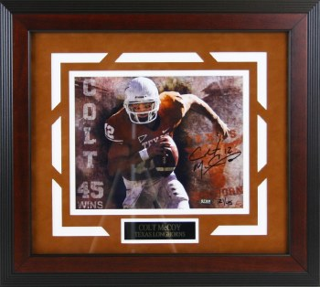 COLT MCCOY SIGNED & CUSTOM FRAMED UT PHOTO