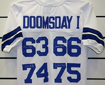DALLAS COWBOYS AUTOGRAPHED DOOMSDAY DEFENSE CUSTOM JERSEY