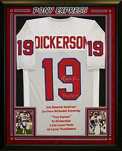 ERIC DICKERSON - SMU FRAMED JERSEY