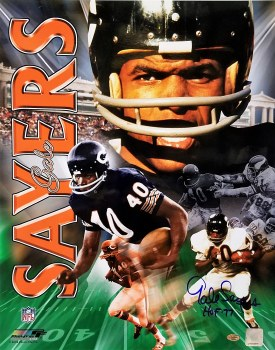 GALE SAYERS AUTOGRAPHED HAND SIGNED CHICAGO BEARS 16X20 PHOTO