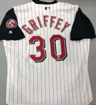 KEN GRIFFEY JR. AUTOGRAPHED HAND SIGNED RED JERSEY