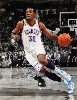 KEVIN DURANT AUTOGRAPHED HAND SIGNED OKLAHOMA CITY THUNDER 16X20 PHOTO