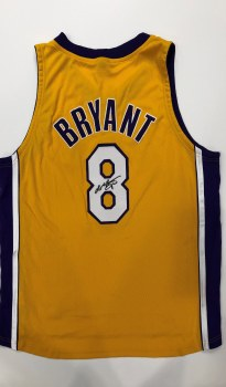KOBE BRYANT AUTOGRAPHED HAND SIGNED LAKERS NIKE JERSEY