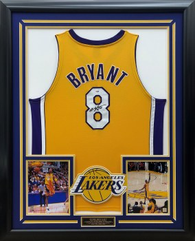 KOBE BRYANT AUTOGRAPHED HAND SIGNED YELLOW LAKERS JERSEY
