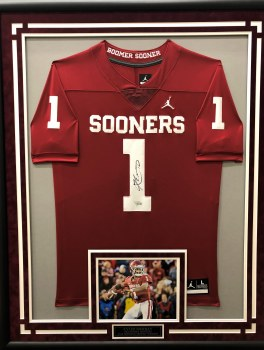 KYLER MURRAY - OU SIGNED AND CUSTOM FRAMED JERSEY