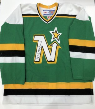 MIKE MODANO AUTOGRAPHED HAND SIGNED NORTHSTARS JERSEY