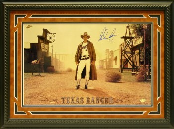 NOLAN RYAN SIGNED & CUSTOM FRAMED NIKE WESTERN PHOTO