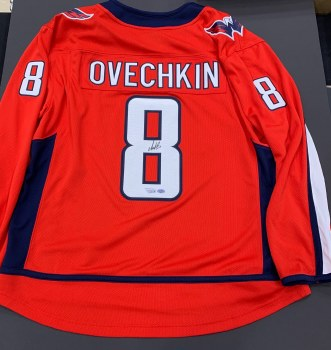 ALEX OVECHKIN SIGNED CAPITALS JERSEY