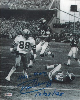 DREW PEARSON AUTOGRAPHED HAND SIGNED DALLAS COWBOYS 8X10 PHOTO
