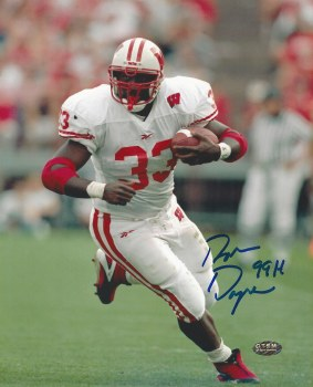 RON DAYNE AUTOGRAPHED HAND SIGNED WISCONSIN 8X10 PHOTO