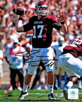 RYAN TANNEHILL AUTOGRAPHED HAND SIGNED TEXAS A&M 8X10 PHOTO